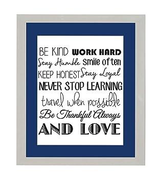 Amazonde Inspirierenden Motivational Zitat Werden Art Work Hard