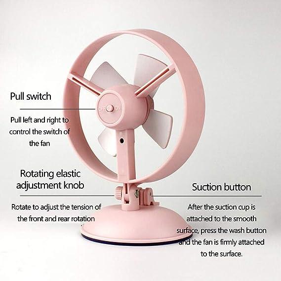 Adjustable Head Ultra-Quiet Cooling Mini Fan for Home Workplace Color : Pink USB Desktop Fan School WMM-mini fan Suction Cup Table Fan