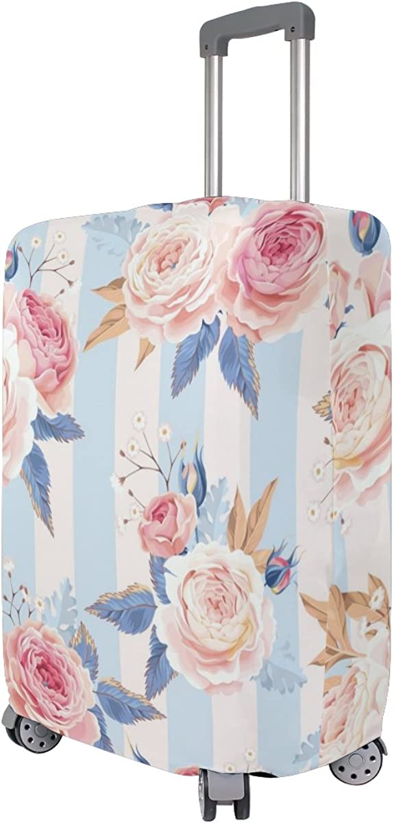Elastic Travel Luggage Cover Rose Suitcase Protector for 18-20 Inch Luggage