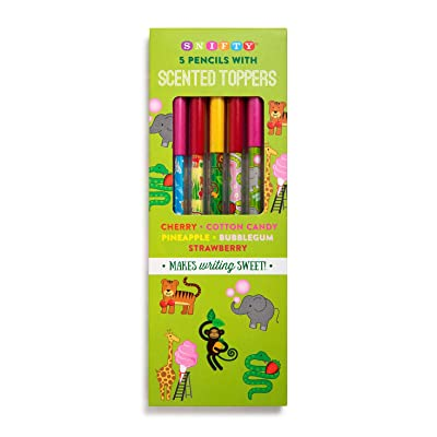 Scented Pencil Toppers with Zoo Themed Pencils (5 Pack): Office Products