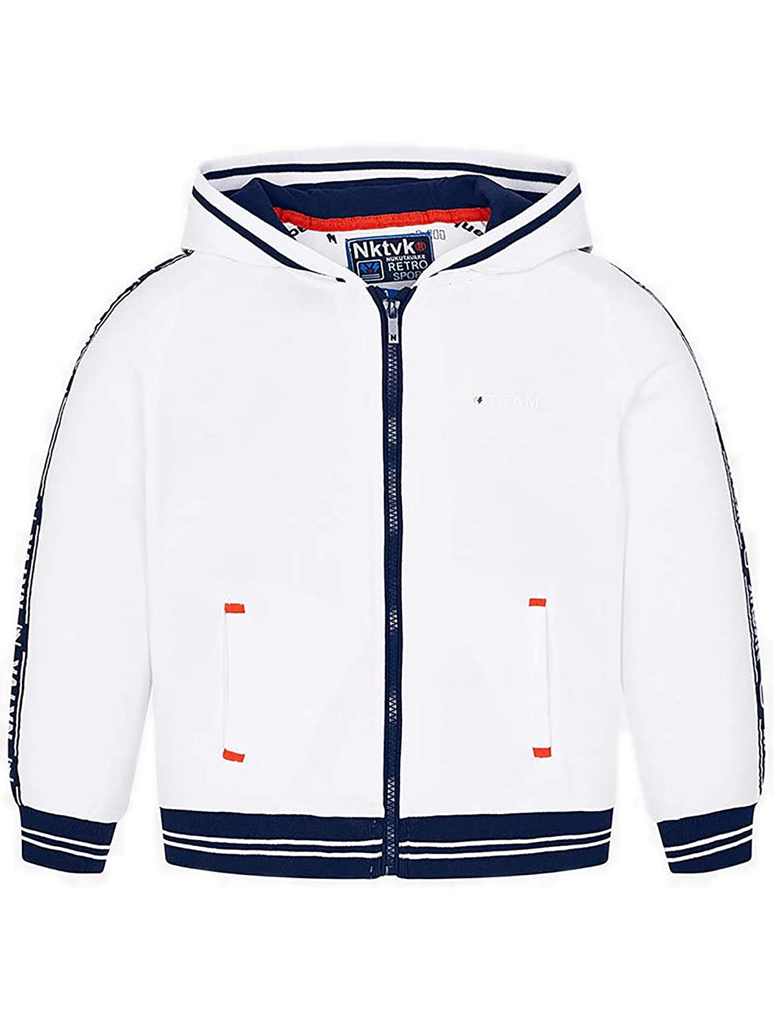 6428 Stripe Hoodie for Boys White Mayoral