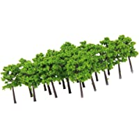 Generic Plastic Model Trees Train Railroad Scenery 1:250 40pcs Green