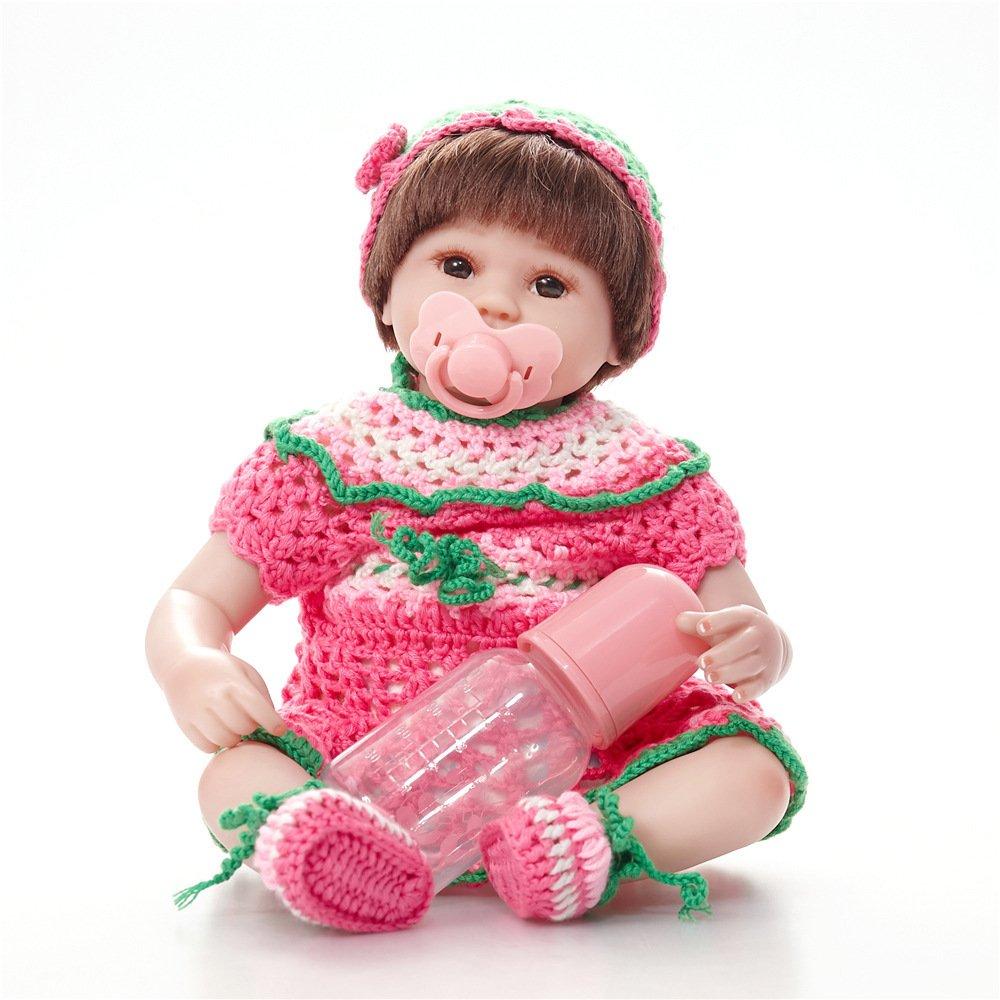 Reducción de precio Nurturing Dolls Muñeca Reborn De La Vida Real Soft Vinilo De Silicona 45cm Lifelike Recién Nacido Bebé Regalo De Juguete