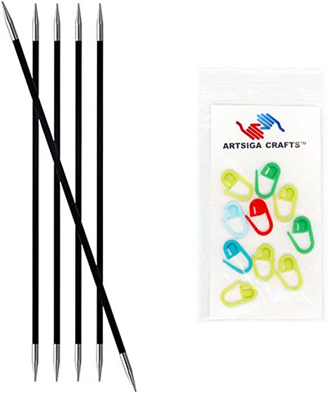 Knitters Pride 0//2mm Karbonz Double Pointed Needles 6