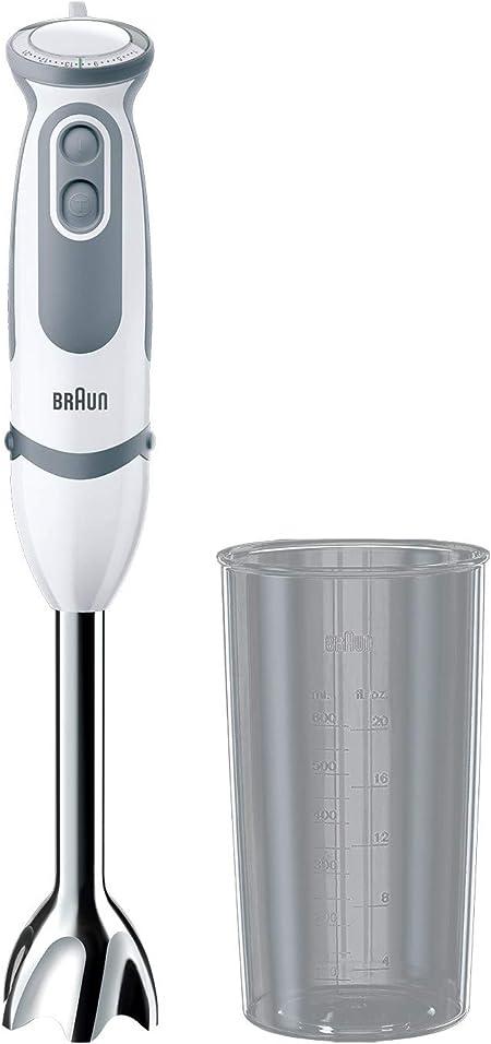 Powerbell Plus 21 velocit/à con misurino 600 ml colore: bianco anti-schizzi 1000 W funzione turbo Braun Minipimer 5200 Frullatore a mano