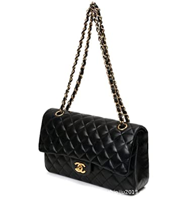 Fashion Women Double Use Cross Body Chain Bag Quilted Flap Purse