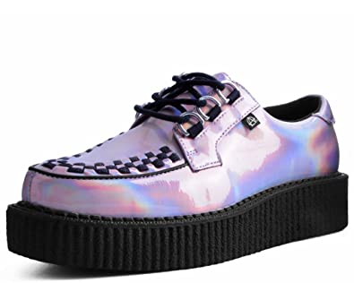 buy popular 481cd 19a80 ... where to buy t.u.k. shoes t2265 unisex adult creepers rose quartz  iridescent anarchic creeper us a2369