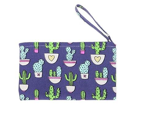weimay Cute Cactus patrón pequeño bolso cartera con ...
