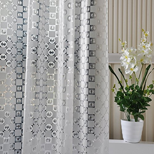 yzakka-3d-effect-circle-chessboard-design-eva-bathroom-shower-curtain-liner-bath-curtain-with-hooks-