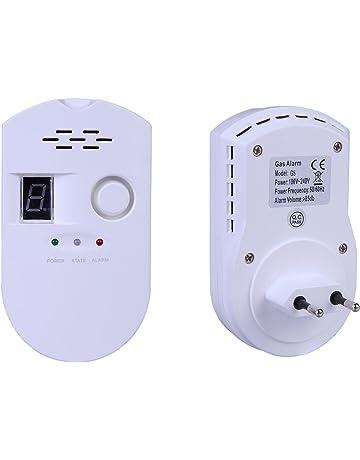 ZEYUN Detector de alarma de gas, LPG/Detector de fugas de gas natural con