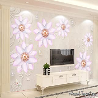 WTD Papel pintado pared papel pintado pared Imágenes 3d de elegante Dimensional Flores KN de 3757 KN-COLLECTION