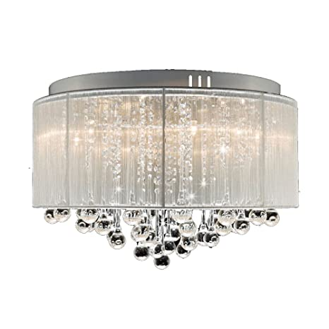 DINGGU Flush Mounted Luxury Contemporary Drum Ceiling Chandelier ...