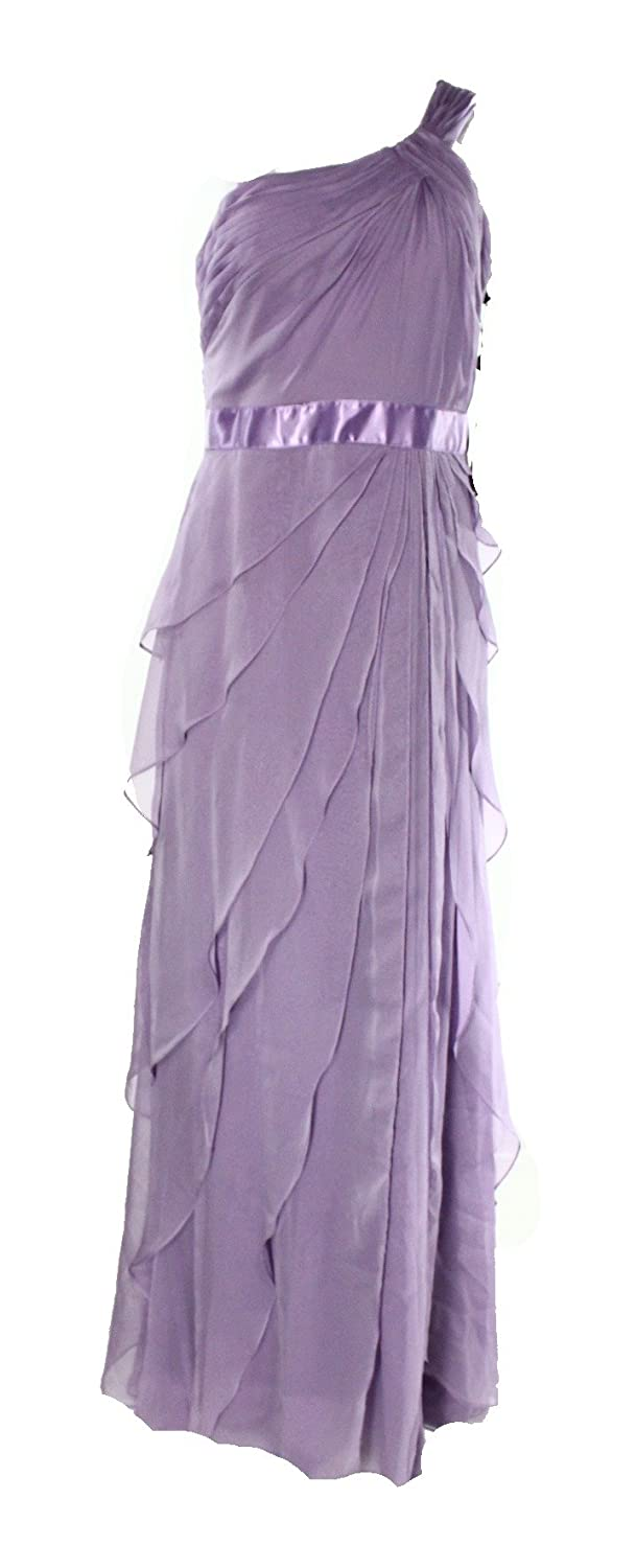 79e9bf6ba1a8 Amazon.com: Adrianna Papell Lilac Womens Tiered Ball Gown Dress Purple 10:  Clothing