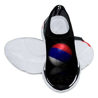 2018 World Cup Serbia Football Team 3D Printing Customized Fashion Low Flyknit Outdoor Comfortable Sports Running Casual Breathable children Shoes White