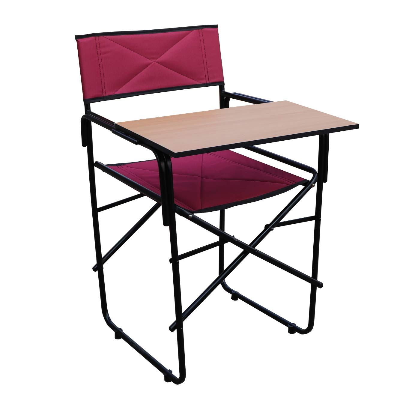 Spacecrafts Folding Study Chair with Writing pad (Standard, Maroon)