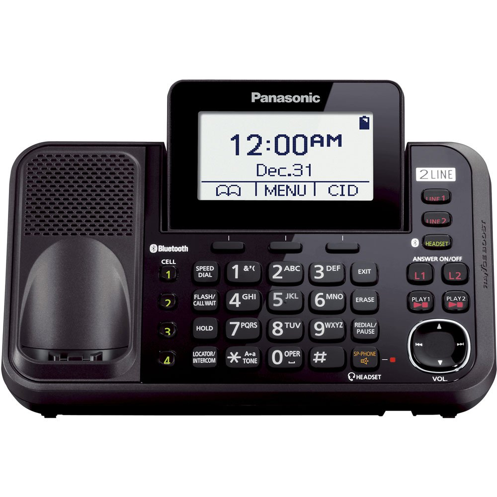 Amazon Panasonic Kx Tg9541b Link2cell Bluetooth Enabled 2 Line