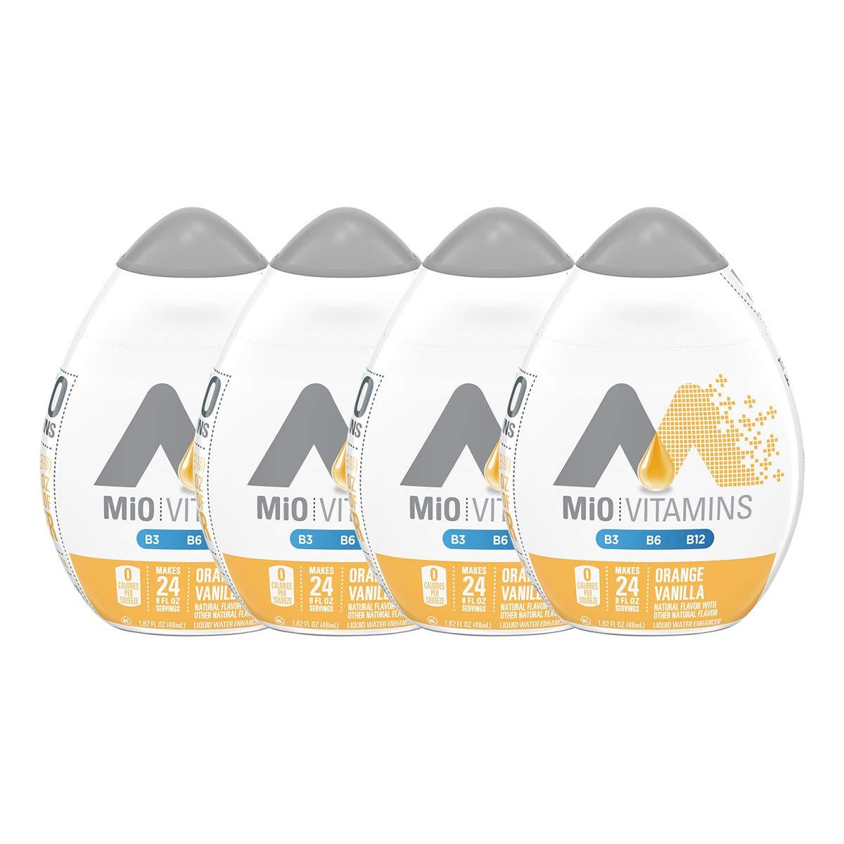 Mio Energy Liquid Water Enhancer, Orange Vanilla (Pack of 4)