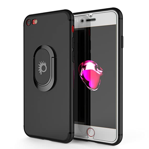 newest 0ed25 d2ee6 iPhone 8 Case, Punkcase Magnetix Protective TPU Cover W/Kickstand, Ring  Grip Holder & Metal Plate for Magnetic Car Phone Mount Plus Tempered Glass  ...