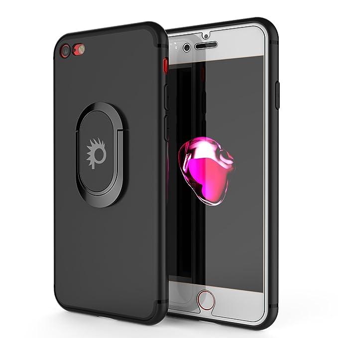 1 opinioni per punkcase iPhone 8 Caso Magnetix Protettiva TPU Coprire w/cavalletto Anello Grip