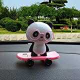Gessppo Car Dancing Toys Swinging Glasses Panda Dancer Toy Car Decor For Sale