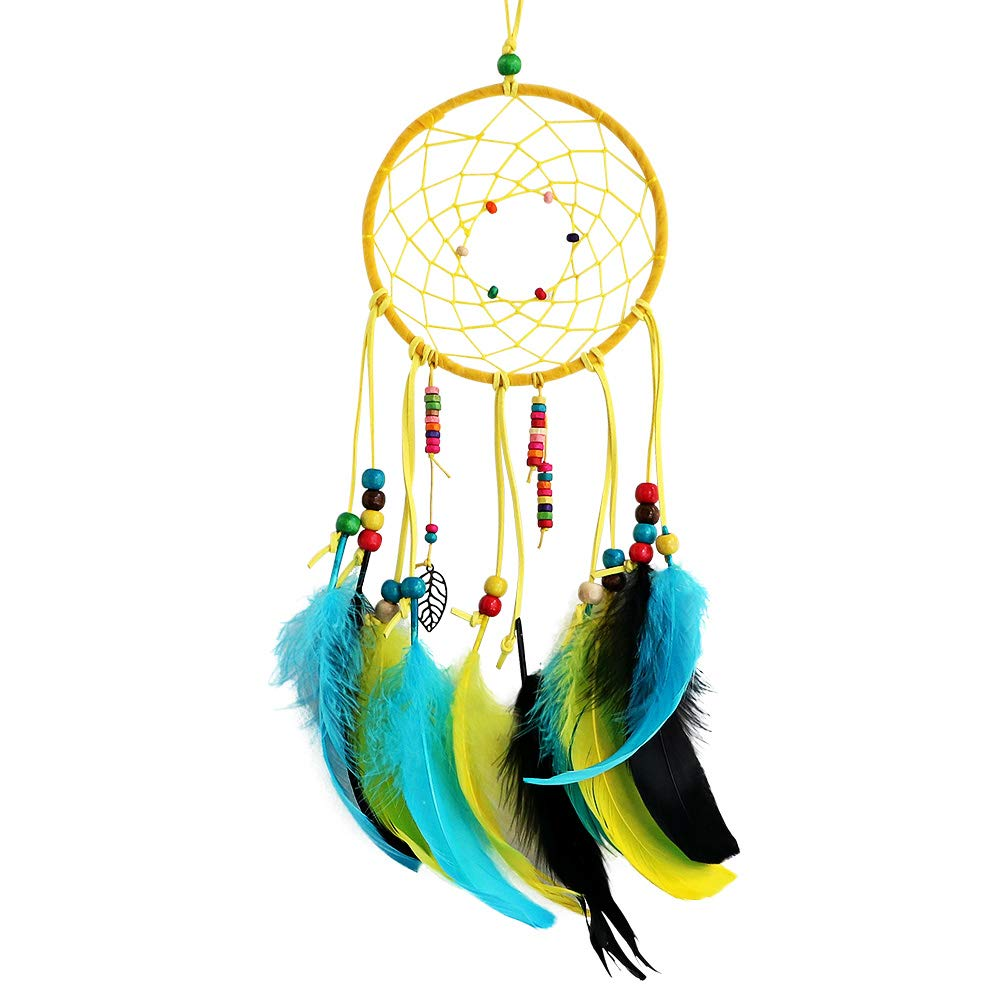 LOMOCRAFT Dream Catcher ~ Handmade Traditional Feather Wall Hanging Home Decoration Decor Ornament Craft (Blue&purple)