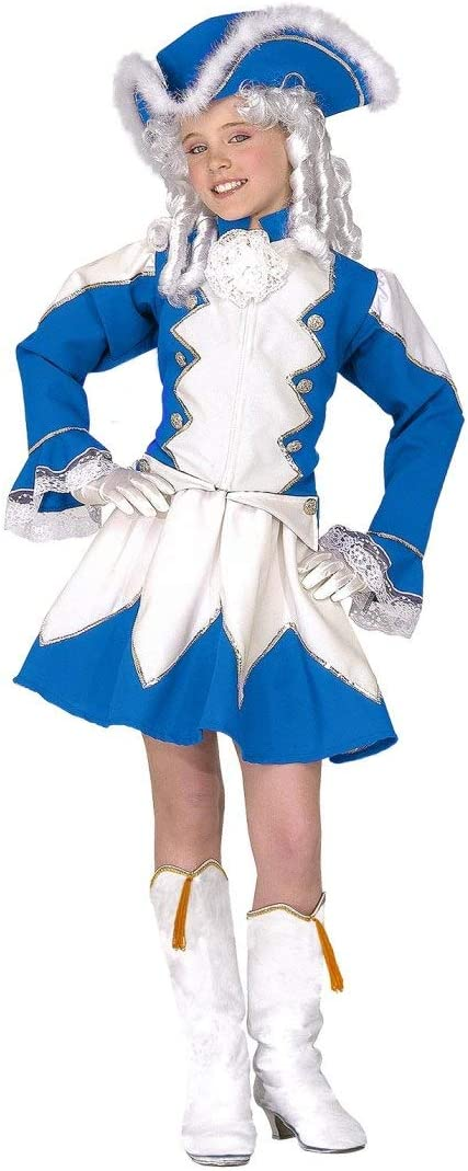 NET TOYS Disfraz Garde Majorette para niños   Azul-Blanco en Talla ...