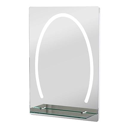 Turbo kleankin LED Badezimmerspiegel Badspiegel mit Beleuchtung Glas ML32