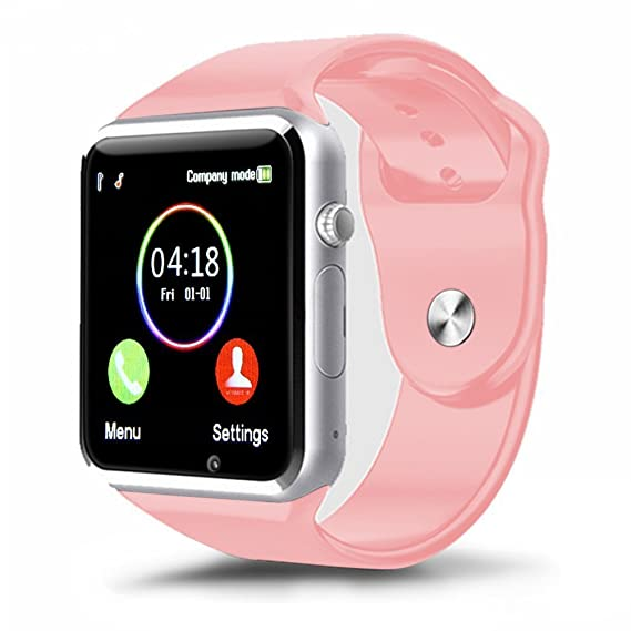 Padgene Bluetooth Smart Watch GSM Phone Watch with Camera for Samsung Nexus HTC Sony and Other Android Smartphones, (Pink)