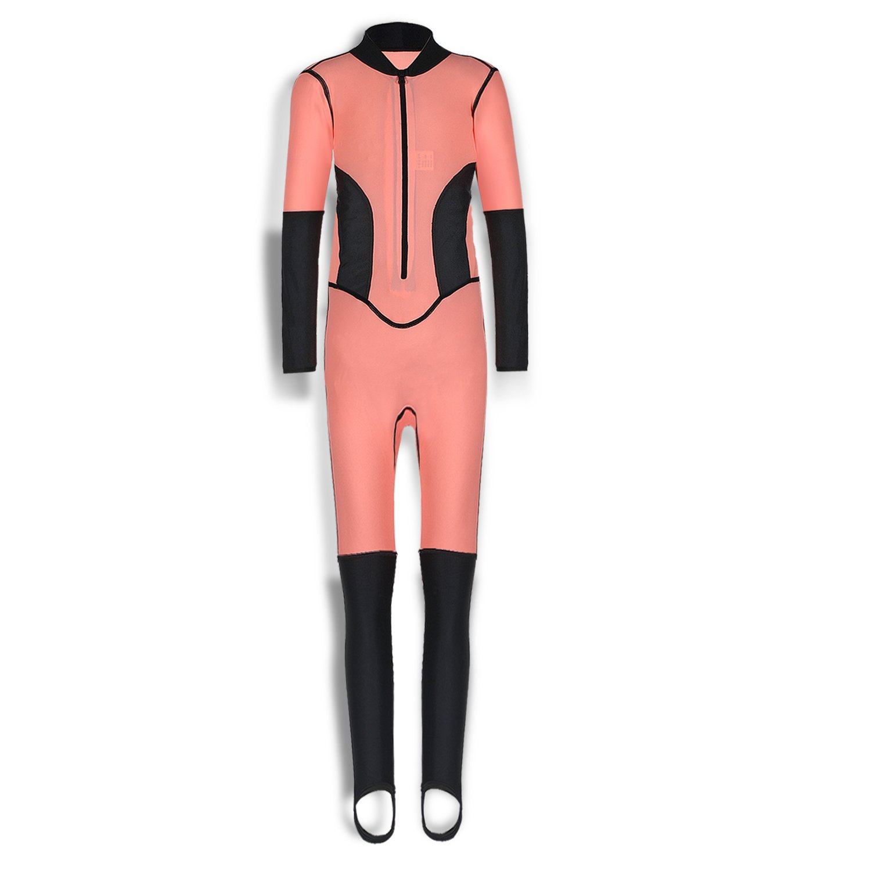 Girls One Piece Rash Guard Swimsuits Kids Long Sleeves Sunsuit Swimwear Sets