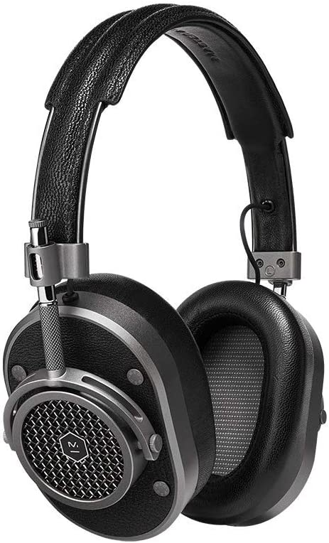 Master /& Dynamic MH40 Over Ear Headphones Silver Metal Brown Leather Open Box