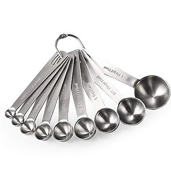 U-Taste 9-Piece Set Of Stainless Steel Measuring Spoons