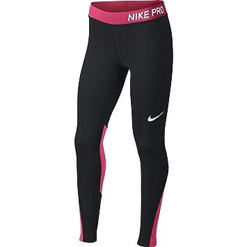 100% de garantía de satisfacción replicas amplia selección de colores y diseños Nike G NP TGHT - Mallas, Niña, (Black/Racer Pink/Racer Pink ...