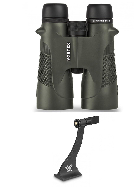 渦Optics新しい2016 Diamondback 10 x 50双眼鏡with渦Optics双眼三脚アダプタvt-400 B07588BPLW