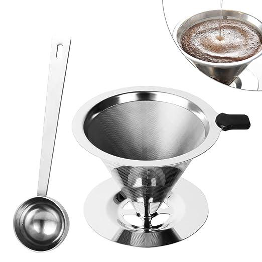 Filtro para café Tazas filtro permanente de acero inoxidable ...