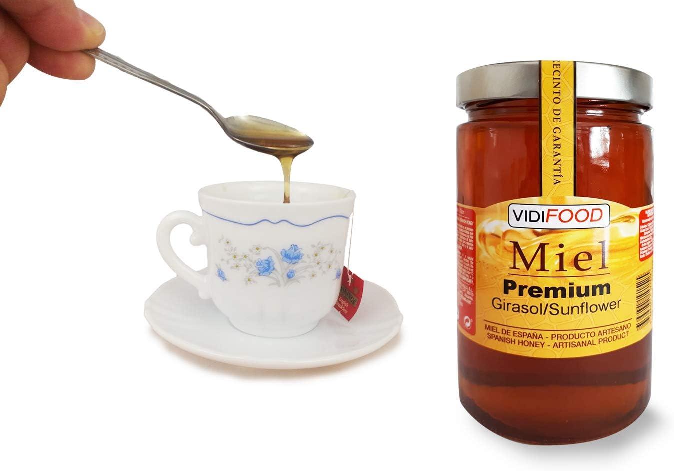 Miel de Girasol Premium - 1kg - Producida en España - Alta Calidad ...