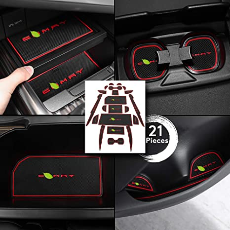 Toyota Camry 2018 Interior >> Behave Autos Car Door Slot Pads Fit For Toyota Camry 2018 21 Pieces Camry Interior Accessories Silicone Cup Holder Pads Anti Dust Armrest Box Mats