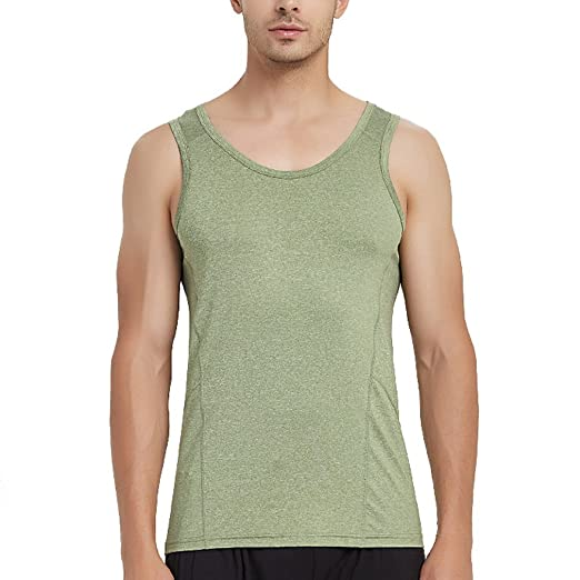 ca5391c9cf47e AOYOMO Men's Sleeveless T-Shirt Quick-Dry Fitness Running Sport Tank ...