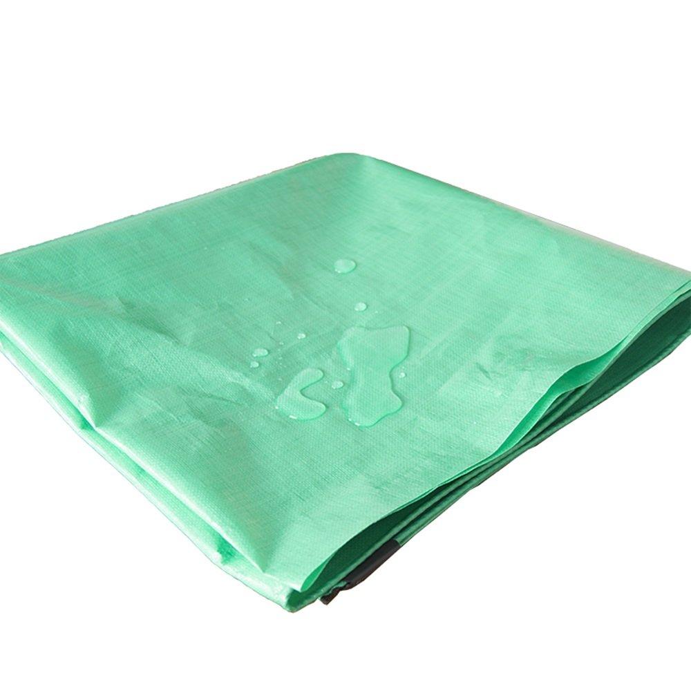 DUO Telo impermeabile in plastica verde Telo impermeabile Telo impermeabile in triciclo elettrico Protezione solare 180 g m² - 0,3 mm (dimensioni   4mx4m)
