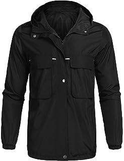 3ff93d871 poriff Men's Waterproof Lightweight Rain Jacket Active Outdoor Hooded  Raincoats