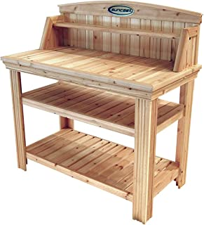 product image for Suncast Cedar Freestanding Bench Ideal for Garages, Sheds, Basements - Organize Garden Equipment Supplies, Pots, Watering Cans - Hardware Included