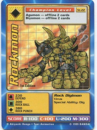 - Digimon Card - Rockmon St-22 - 1st Edition