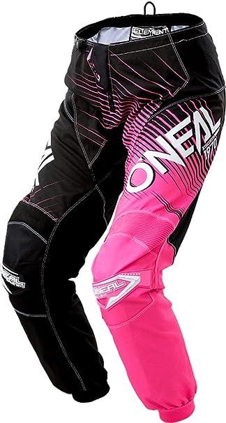 O Neal Element Racewear Damen Mx Dh Mtb Pant Hose Lang Schwarz Pink 2018 Oneal Größe 13 14 38 Bekleidung
