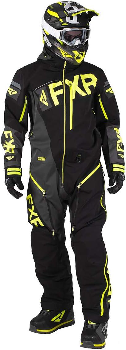 Black//Grey//Hi-Vis//Nuke Red - Large FXR Mens CX F.A.S.T Insulated Monosuit 2021