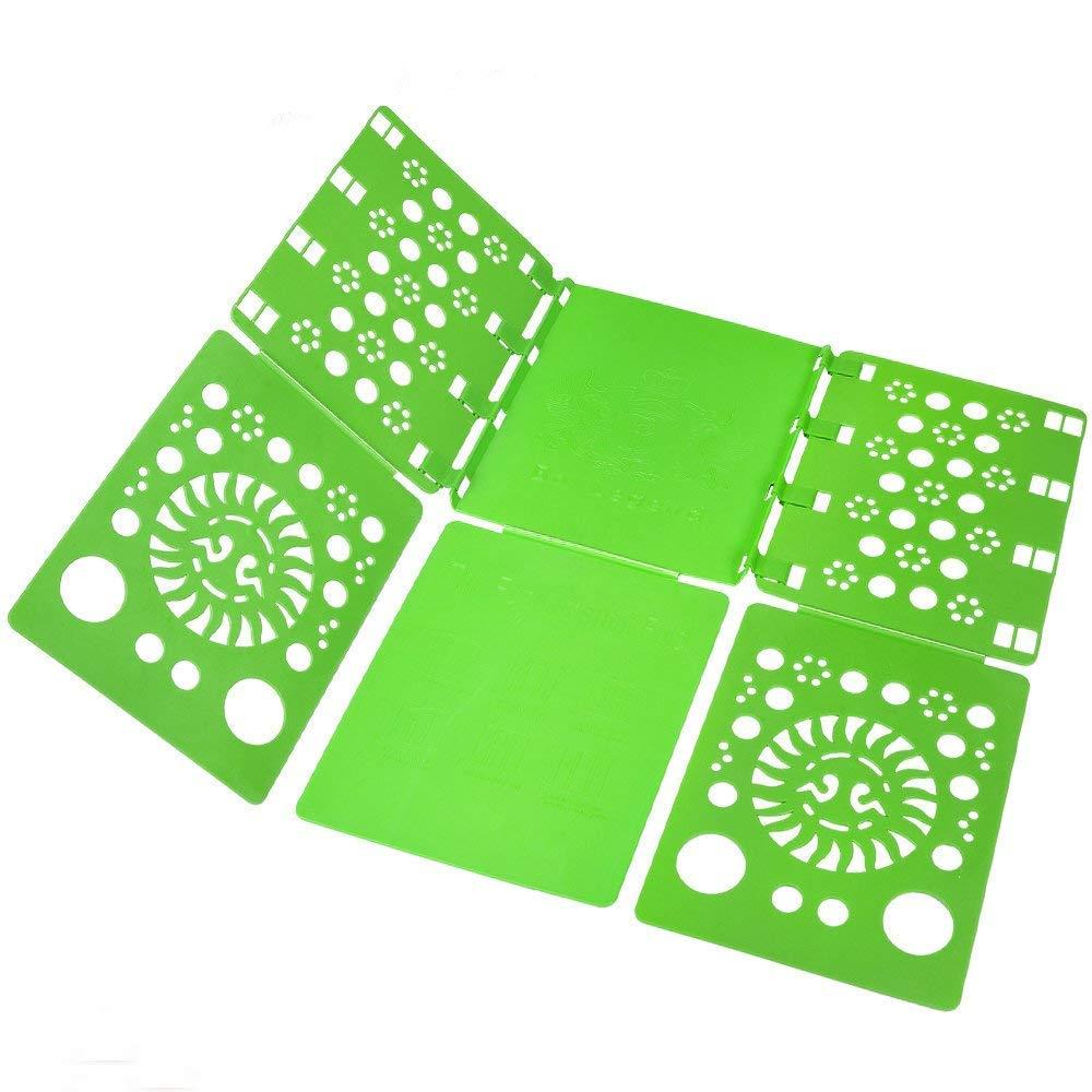 BoxLegend Doblador de Ropa - Tabla para Doblar la Ropa - Placa Ayuda para Plegar la Ropa 57 * 70 cm Camisetas Tablero para Plegar Camisas Verde
