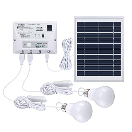 Suaoki solar lamp, outdoor LED, 4 5 W, foldable panel, solar