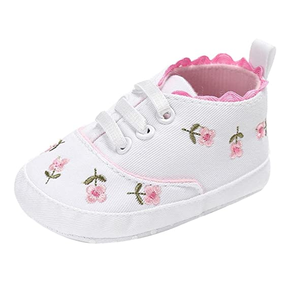 Zapatos de Bebé 💋💝 Yesmile Niño Recién Nacidos Bebé Niñas Cuna Floral Zapatos Suela Suave Antideslizante Zapatillas Lona: Amazon.es: Ropa y accesorios