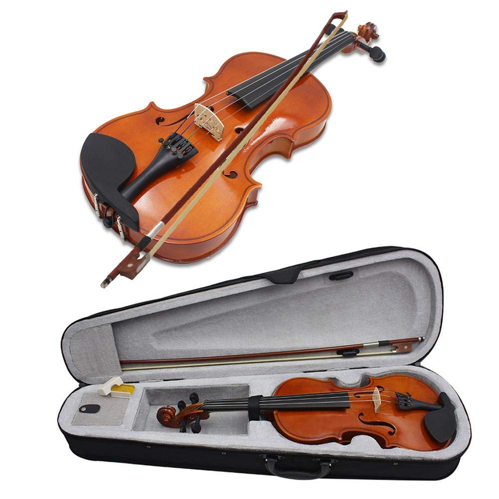 Umiwe Premium Solid Wood Violin Full Size 1/4 for Beginner Student with Storage Bag,Hard Shell, Maple, Rosin, Bow, Violin Kit, Gift for Kids Students by Umiwe