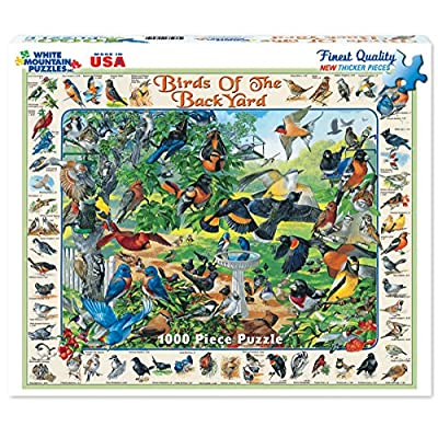 White Mountain Puzzles Birds of the Backyard - 1000 Piece Jigsaw Puzzle: Toys & Games