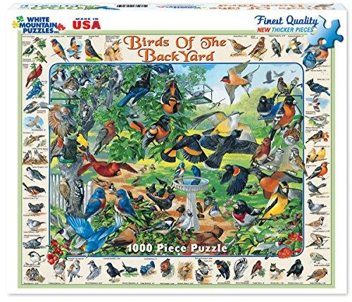 White Mountain Puzzles Birds of the Backyard