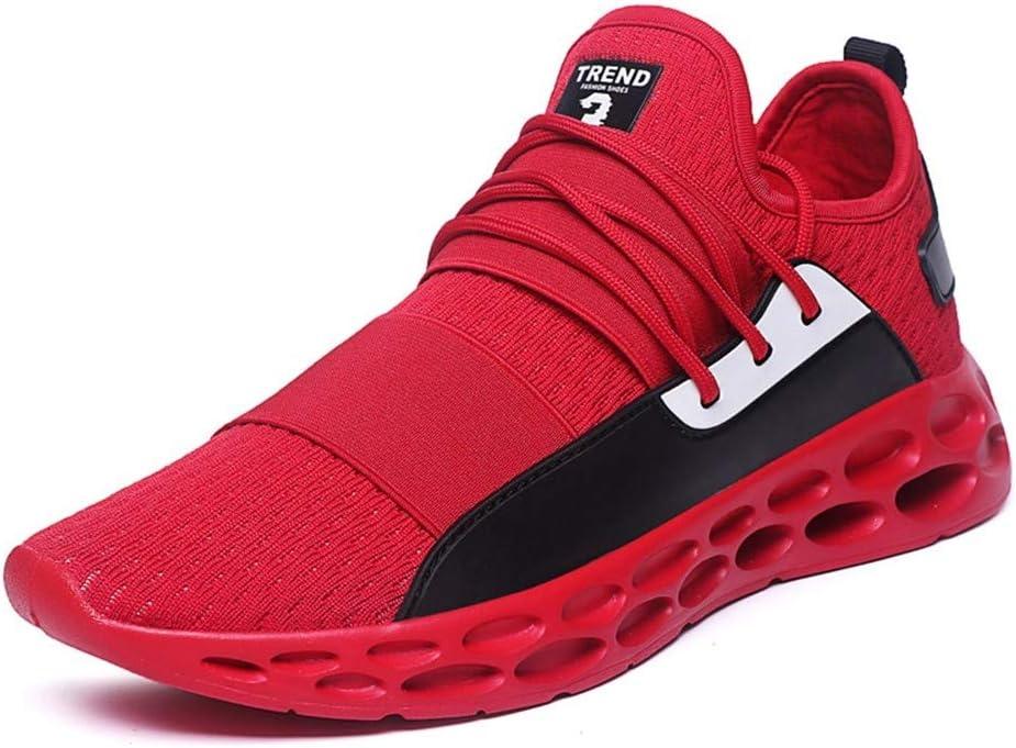 WJNBCRGLM Cushion Sneakers for Men Max Mesh Running Shoes Uomo Leggero Scarpe Sportive per Uomo Zapatillas Hombre Deportiva Plus Size 48 Red D 45